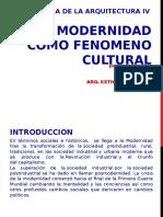 Historia IV La modernidad como fenomeno cultural