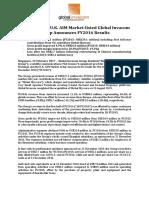 Singapore and U.K. AIM Market-listed Global Invacom Group Announces FY2016 Results