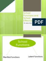 School Functions and School Effectiveness