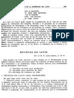 Revistas en Latín