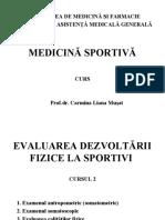 Evaluarea Dezvoltarii Fizice La Sportivi