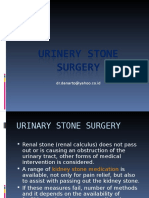 Urinery Stone Surgery
