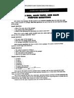 Supplementary Exercise for Skill 1