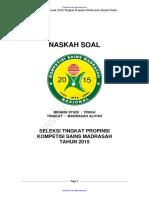Soal Dan Kunci Jawaban KSM Bidang Fisika MA 2015