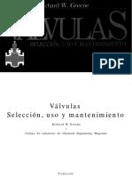 Valvulas, Seleccion, Uso y Mantenimiento