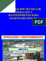 Operacion Tecnica Para Operacion y Mantenimiento Para Maquinaria Pesada