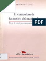 Davini El Curriculum de Formacion Del Magisterio TAPA
