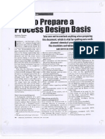How to Preceed to Design Basis