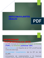 anticoagulacion exposicion