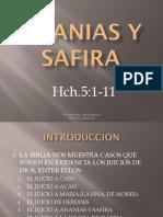 Ananias y Safira
