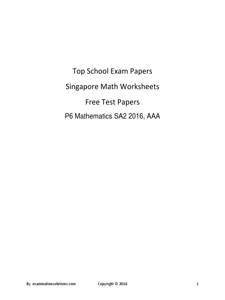 worksheet. Singapore Math Worksheets. Grass Fedjp Worksheet Study Site