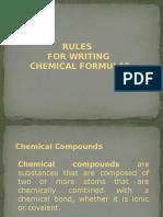 Rules in Writing Chemical Formula