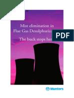 Mist Elimination in WetFGD