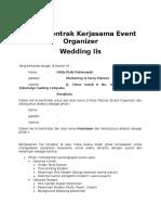Surat Kontrak Kerjasama Event Organizer