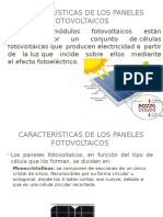 Caracteristicas de los paneles fotovoltaicos
