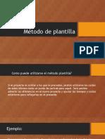 Método de Plantilla