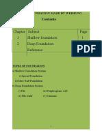 63429538 Shallow Foundation and Deep Foundation