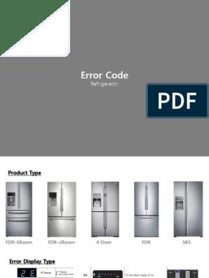 Samsung Fridge Error App 1 | Refrigerator | Hvac