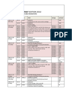 Business Strategy Edition 2012 - Schedule v4.4