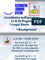 ALS a & E Program Background-Legal Basis