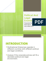 Ethics Political and legal environment