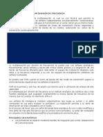 Multiplexación Por Fdm División de Frecuencia
