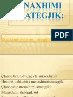 Manaxhimi Strategjik - Nga Literatura Mesimore