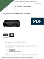 Proyector Multimedia PowerLite S18+