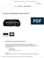 Proyector Multimedia PowerLite S18+