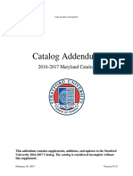 Catalog Addendum Maryland 2016-17 - Stratford University