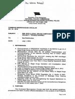 CMC No. 16-2016 PNP Anti-Illegal Drug Campaign Plan