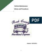 Vehicle Maintenance Policy