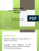 Resonance in AC Circuits