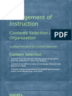 Contents Selection and Organization