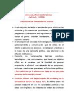 Definiciones de Mercadotecnia Politica