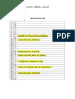Agenda Pastoral 2014-15