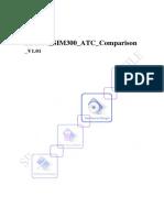 SIM900 Sim300 ATC Comparison V1.01