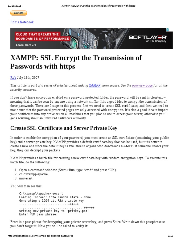XAMPP_ SSL Encrypt the Transmission of Passwords With Https | Public