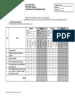 Peer Evaluation Form - Student