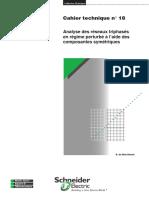 ct018  Cahier technique n° 18 Analyse des réseaux triphasés en régime perturbé à l'aide des composantes symétriques