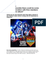 Chris Wyse - Kiss Army Argentina interview - February 2017