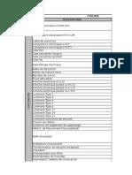 Lista de Equipamentos Piscine