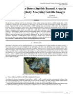 AN APPROACH TO DETECT STUBBLE BURNED AREAS IN PUNJAB BY DIGITALLY ANALYZING SATELLITE IMAGES