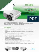 Vivitek H1186 Full HD 1080p DLP Home Theatre Projector