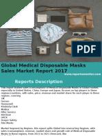 Global Medical Disposable Masks Sales Market Report 2017