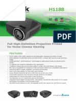 Vivitek H1188 Full HD 1080p DLP Home Theatre Projector