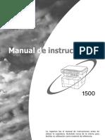 Manual Fotocopiadora - KM1500LA
