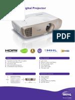 BenQ W2000 1080p Wireless Home DLP Projector