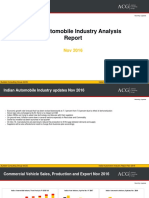 Indian Automobile Industry Analysis Nov 2016