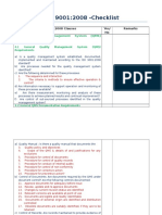 SKTCO ISO 9001 2008 Gap Analysis Checklist